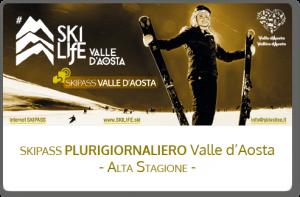 Skipass plurigiornaliero Valle d'Aosta - Alta Stagione